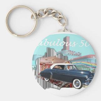 Classic_Cruisin_Cars_1950_Chevrolet gif Keychains
