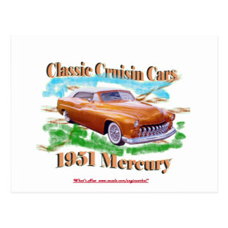 Classic Cruisin Cars 1951 Mercury Postcard