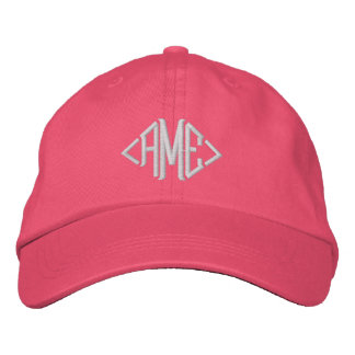 Classic Custom Monogram - Just add your initials Embroidered Baseball Caps