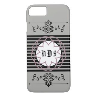Classic Custom Phone Cover Gray w/ Mauve accent