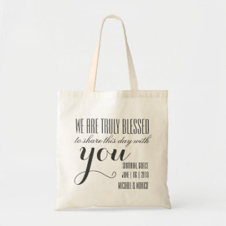 Classic Custom Wedding Theme Tote Party Favors