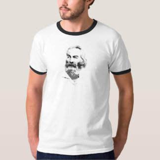 Classic cutout Walt Whitman portrait T-Shirt