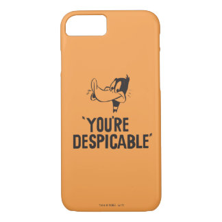 """Classic DAFFY DUCK™ """"You're Despicable"""" iPhone 8/7 Case"""