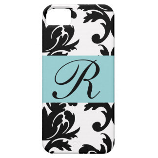 Classic Damask Pattern with Monogram Case For The iPhone 5