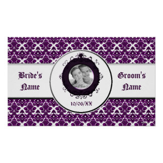 Classic Damask Purple Wedding Print