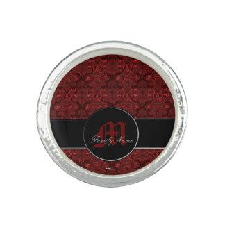 Classic Damask Red (Monogram)