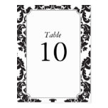 Classic Damask Table Numbers