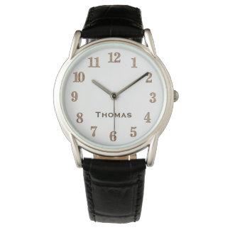 Classic Dapper Gentleman Unisex With Custom Name Watch