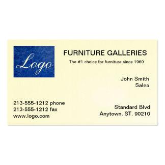 Classic Dark Blue Logo Business Cards