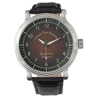 Classic dark brown watch