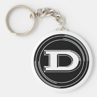 Classic Datsun emblem Basic Round Button Key Ring