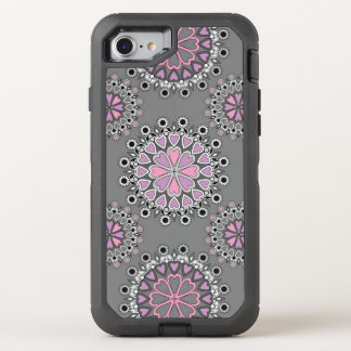 classic delicate floral OtterBox defender iPhone 8/7 case