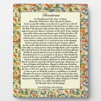 Classic Desiderata Florentine Plaque