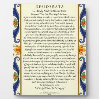 Classic Desiderata with Flourish Plaque