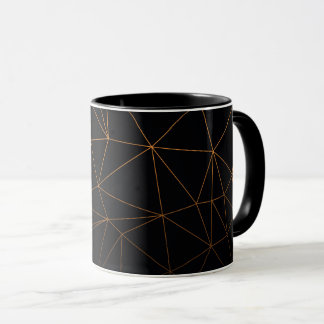 classic design lovely rich gold black mug
