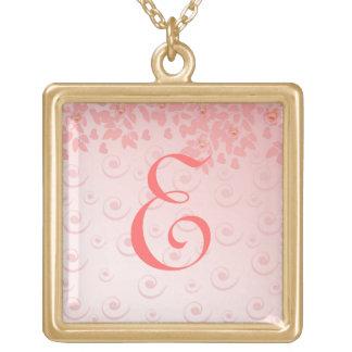 classic design square pendant necklace