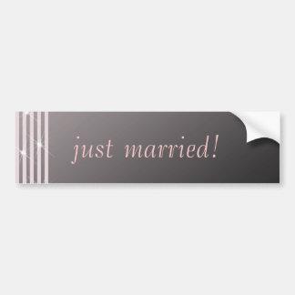 Classic Diamond Pink Wedding Bumper Sticker