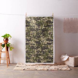 Classic Digital Camo Camouflage Customizable Fabric