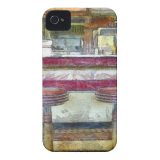 Classic Diner Stools Watercolor iPhone 4 Case-Mate Case