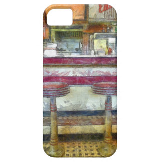 Classic Diner Stools Watercolor iPhone 5 Case
