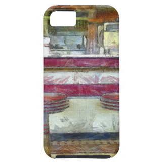 Classic Diner Stools Watercolor iPhone 5 Covers