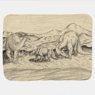 Classic Dinosaurs Baby Blanket