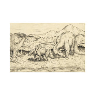 Classic Dinosaurs Canvas Print