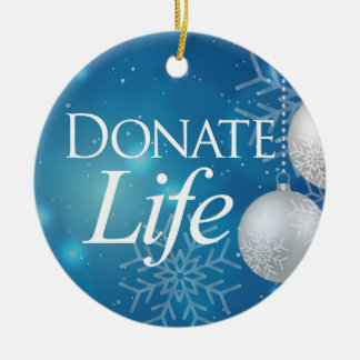 Classic Donate Life Ceramic Ornament