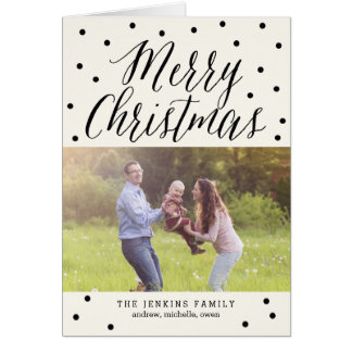 Classic Dots Christmas Photo Cards