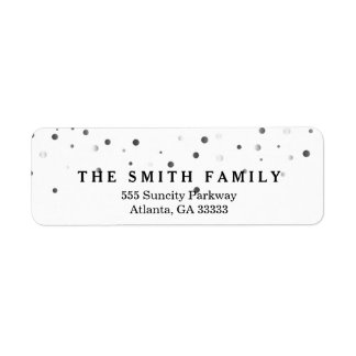 Classic Dots Modern Return Address Label