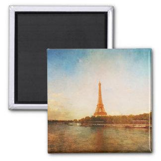 Classic Eiffel Tower Paris Square Magnet