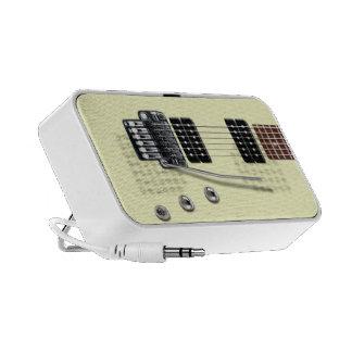 Classic Electric Guitar Doodle Speaker