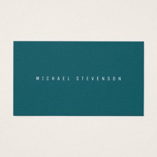 Classic elegance in modern look midnight teal business card