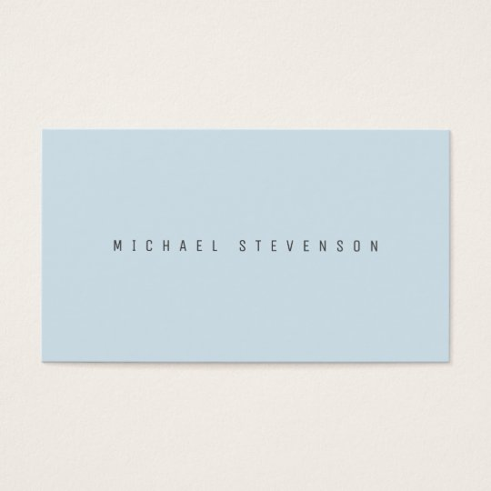 Classic elegance in modern look sky blue business card