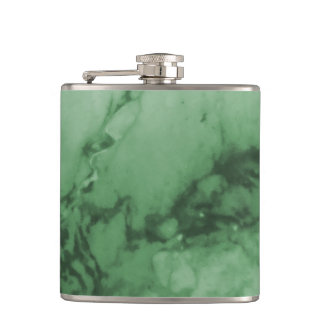 Classic Elegance Luxury | Green Marble Stone Hip Flask