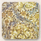 Classic Elegance Vintage Pattern Golds and Blue Coaster