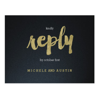 Classic Elegance - Wedding RSVP Postcard