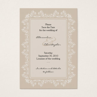 Classic Elegant Damask Save The Date Wedding Mini