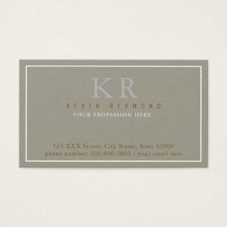 classic & elegant first presentation business card