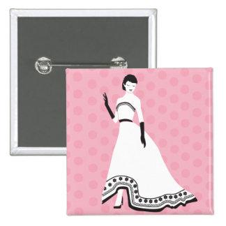 Classic Elegant Girl 15 Cm Square Badge