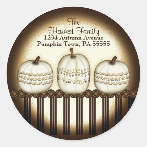 Classic Elegant Pumpkin Address Label Sticker