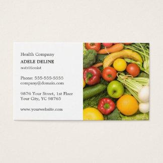Classic Elegant Vegetable Nutritionist Coach Business Card