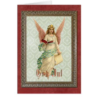 Classic Elegant Victorian Vintage Christmas Angel Card