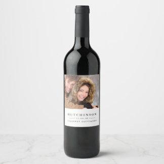 Classic Elegant Wedding Favor Photo Wine Labels