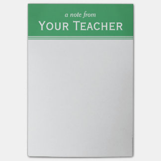 "Classic Emerald Green Personalized 4"" x 6"" Post-it Notes"