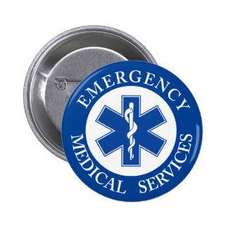 Classic EMT EMS Paramedic Symbol 6 Cm Round Badge