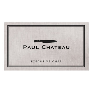 Classic Executive Chef Knife Logo Catering Pack Of Standard Business Cards