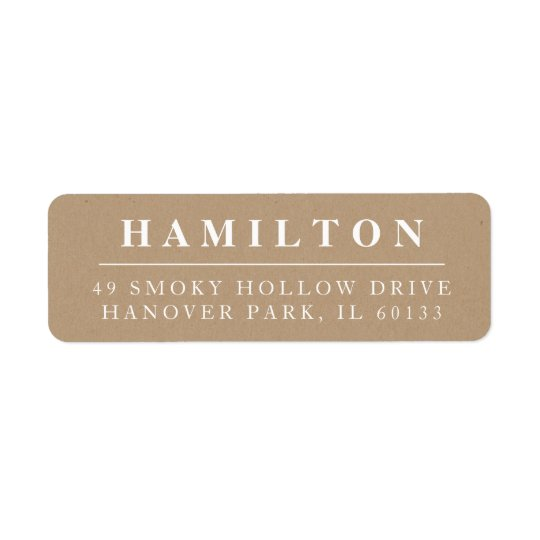 Classic Family Monogram Return Address Label