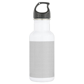 Classic Faux Linen Silver Gray 532 Ml Water Bottle