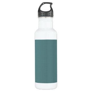Classic Faux Linen Smalt Blue 710 Ml Water Bottle